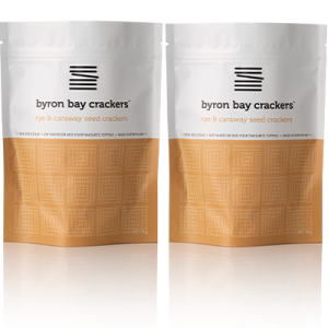 Byron Bay Crackers Rye Caraway 2 Pack