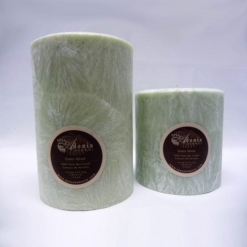 Candles Wide Green Velvet