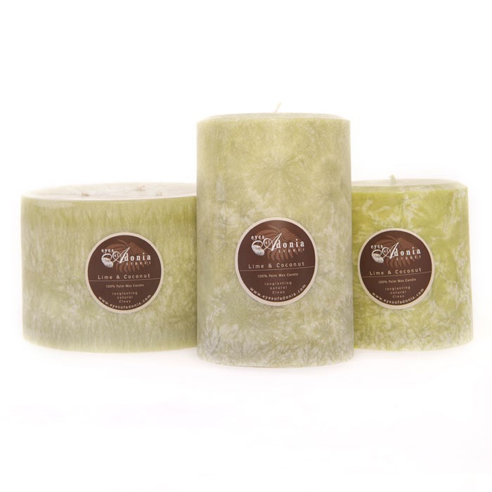 Candles Wide Lime